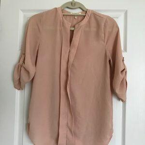 Peachy pink flowy shirt